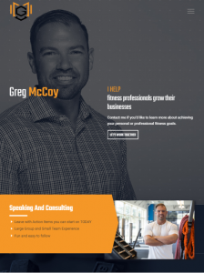 greg mccoy website design
